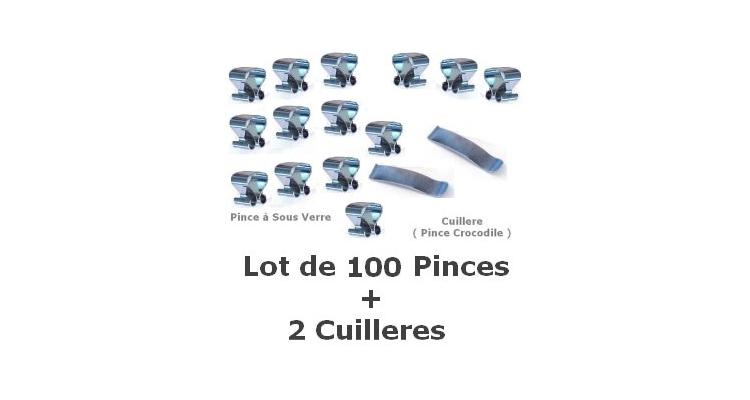 Pince à Sous Verre 7 mm -Lot de 100
