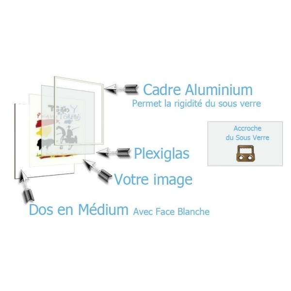 Hauteur en cm 84 largeur en cm 60 accroche du sous verre vertical face av - Sous verre en plexiglas ...