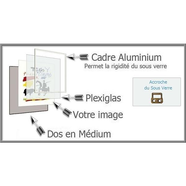 Hauteur en cm 120 largeur en cm 80 accroche du sous verre vertical face a - Sous verre en plexiglas ...