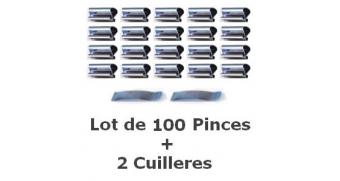 Pince à Sous Verre 20 mm -Lot de 100